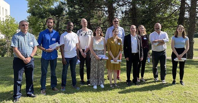 Lauréats et sponsors du concours Fibres & Talents, organisé par Techtera, en juillet 2021