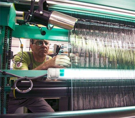 Ajustement sur machine textile