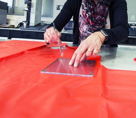 Découpe textile
