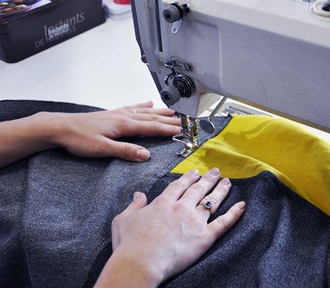 Confection article textile sur machine à coudre