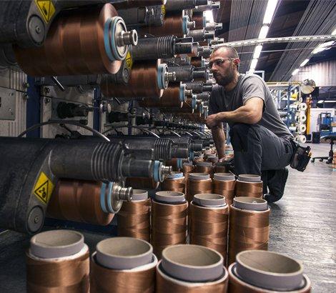 Production et vérification des bobines de fils